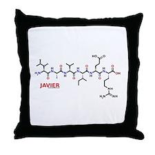 Javier molecularshirts.com Throw Pillow