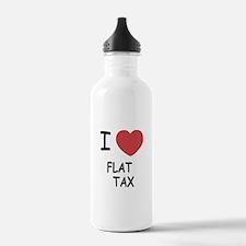 I heart flat tax Water Bottle