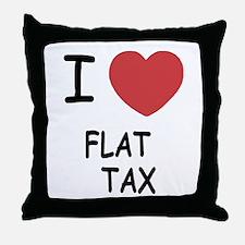 I heart flat tax Throw Pillow