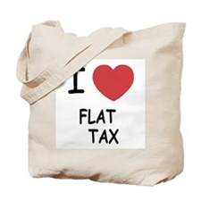I heart flat tax Tote Bag