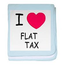 I heart flat tax baby blanket