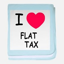I heart flat tax baby blanket