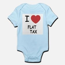 I heart flat tax Infant Bodysuit