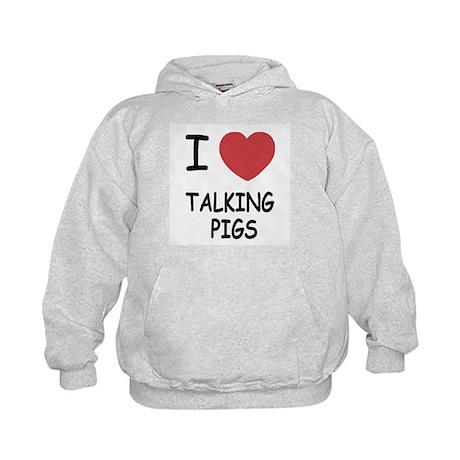 I heart talking pigs Kids Hoodie