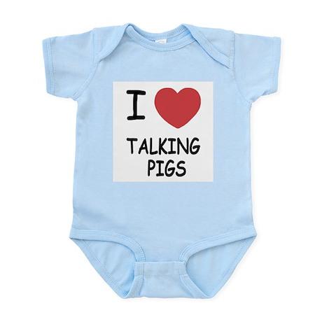 I heart talking pigs Infant Bodysuit