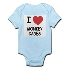 I heart monkey cages Infant Bodysuit