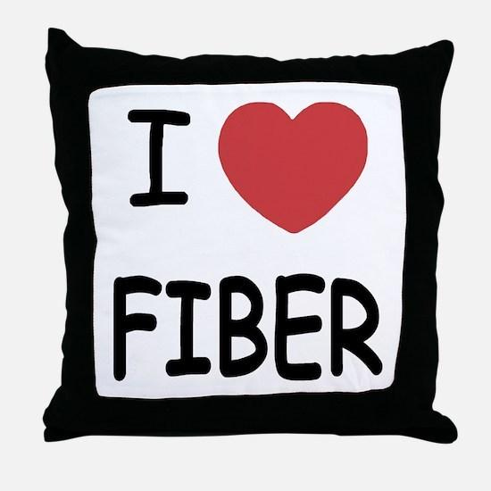 I heart fiber Throw Pillow