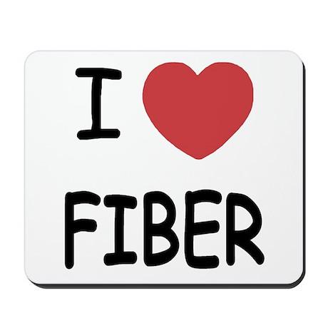 I heart fiber Mousepad