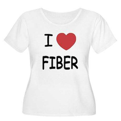 I heart fiber Women's Plus Size Scoop Neck T-Shirt