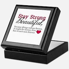 Stay Strong Beautiful Keepsake Box