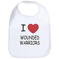 I heart wounded warriors Bib