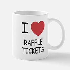 I heart raffle tickets Mug