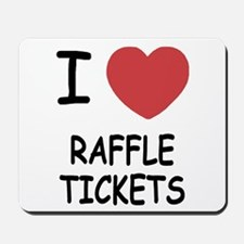 I heart raffle tickets Mousepad