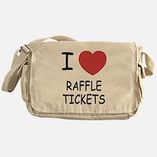 I heart raffle tickets Messenger Bag