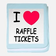 I heart raffle tickets baby blanket