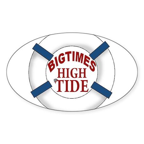 Bigtimes High Tide Sticker (Oval)