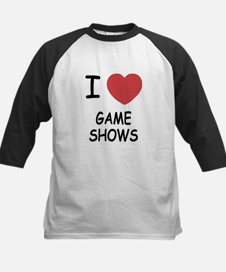 I heart game shows Kids Baseball Jersey