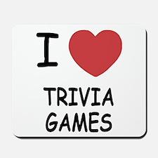 I heart trivia games Mousepad