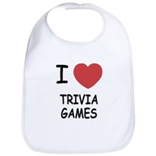 I heart trivia games Bib