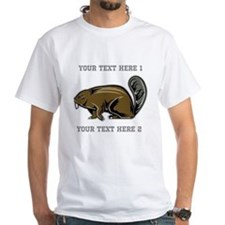 Beaver. With Text. Shirt
