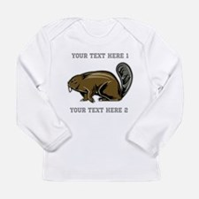 Beaver. With Text. Long Sleeve Infant T-Shirt