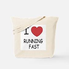 I heart running fast Tote Bag