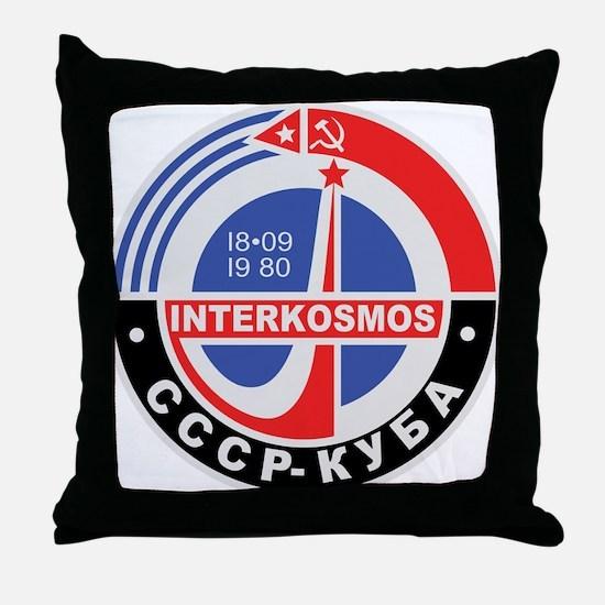 Interkosmos Throw Pillow