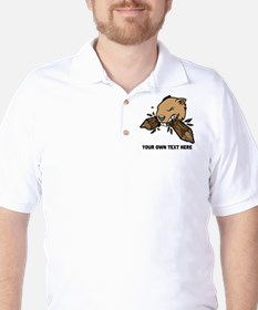 Beaver. Add your text. T-Shirt