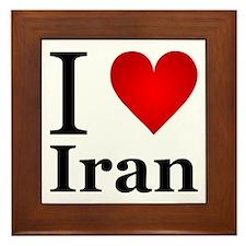 I love Iran Framed Tile