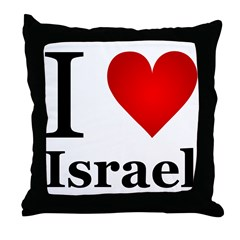 I Love Israel Throw Pillow