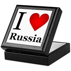 I Love Russia Keepsake Box