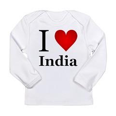I Love India Long Sleeve Infant T-Shirt