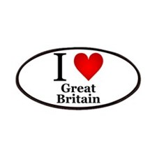 I Love Great Britain Patches