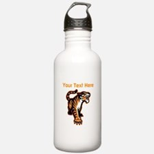 Tiger. With your text. Water Bottle
