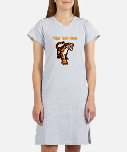 Tiger. With your text. Women's Nightshirt