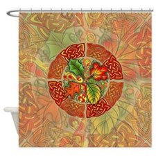Celtic Autumn Leaves Shower Curtain