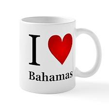 I Love Bahamas Small Mug