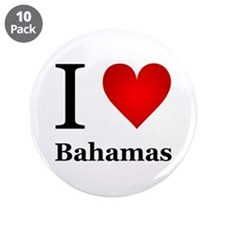 "I Love Bahamas 3.5"" Button (10 pack)"
