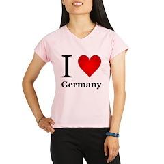 I Love Germany Performance Dry T-Shirt