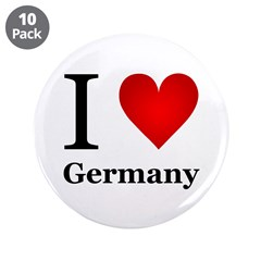 """I Love Germany 3.5"""" Button (10 pack)"""