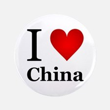 "I Love China 3.5"" Button"