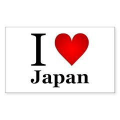 I Love Japan Decal