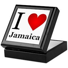 I Love Jamaica Keepsake Box