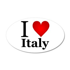 I Love Italy 38.5 x 24.5 Oval Wall Peel