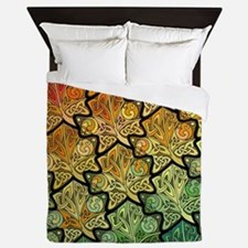 Celtic Leaf Tesselation Queen Duvet Cover