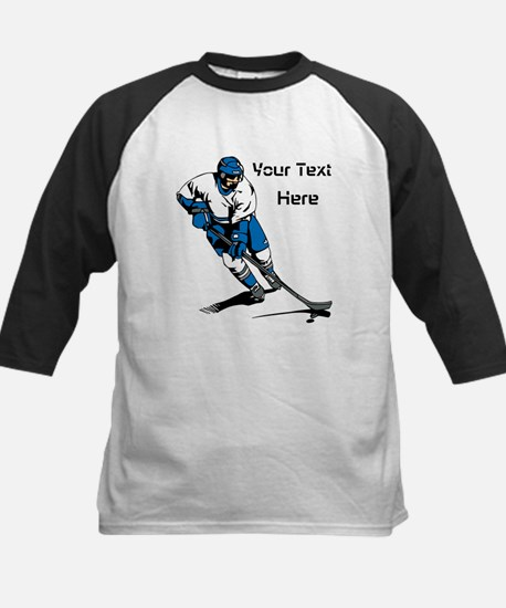 Icy Hockey. With Your Text. Kids Baseball Jersey