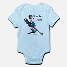 Icy Hockey. With Your Text. Infant Bodysuit