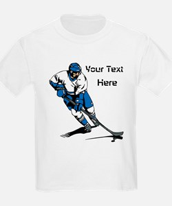 Icy Hockey. With Your Text. T-Shirt