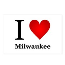 I Love Milwaukee Postcards (Package of 8)