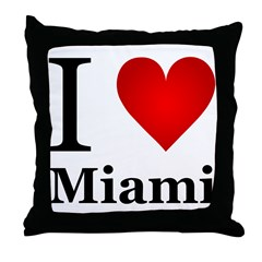 I Love Miami Throw Pillow